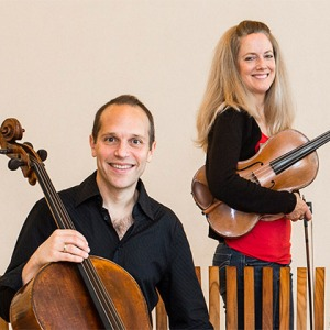 Christoper Costanza and Lesley Robertson of the St. Lawrence String Quartet